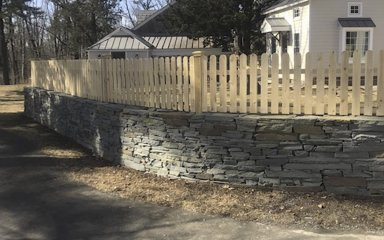 Wood Fence | Retaining Wall – D. Sutton Landscaping LLC