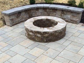 Stone Firepit – D. Sutton Landscaping LLC