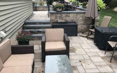 Stone Patio with Steps – D. Sutton Landscaping LLC