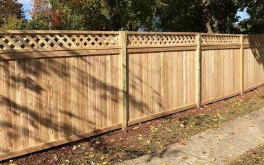 Wood Lattice Fence – D. Sutton Landscaping LLC  Copy